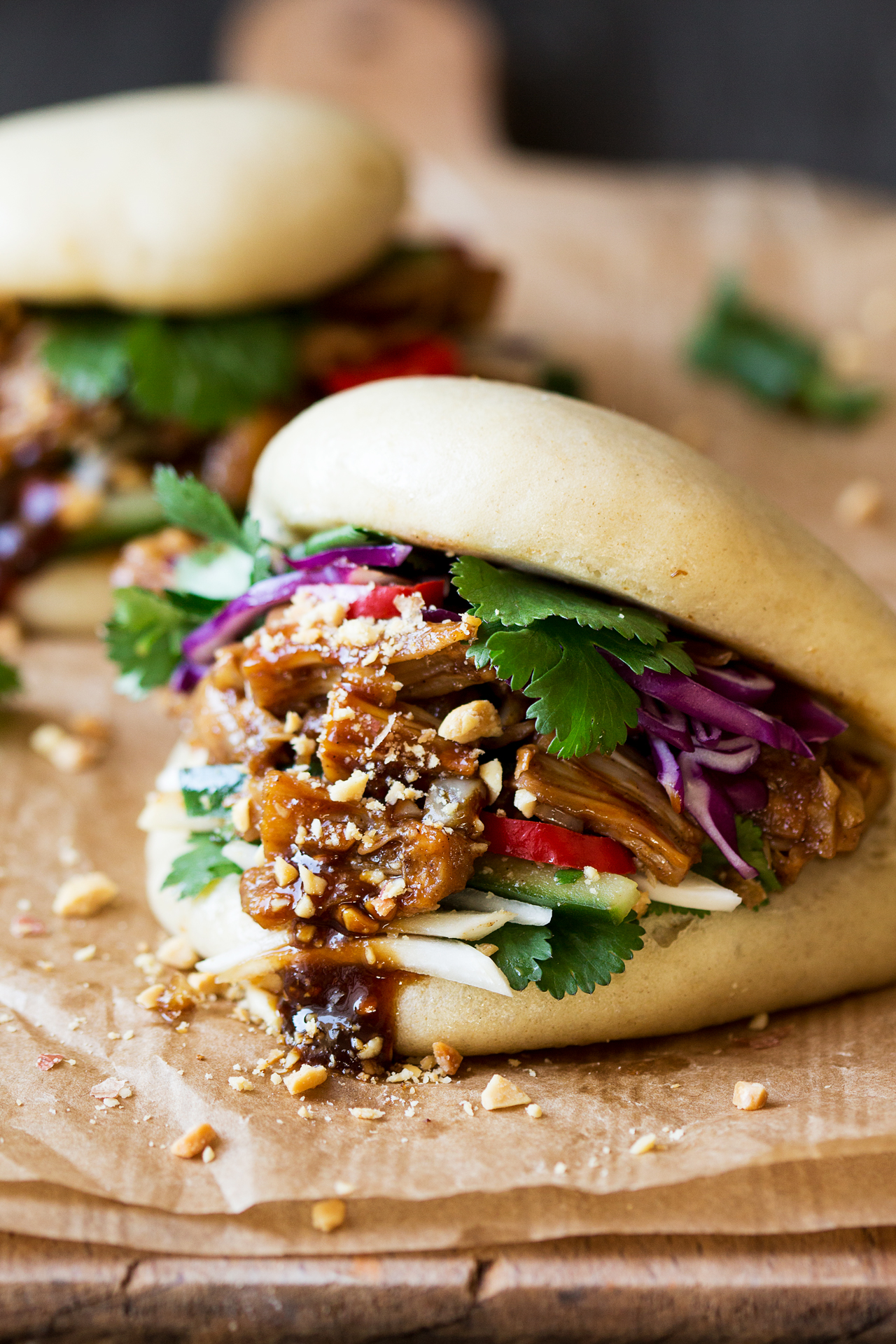 Vegan Bao Buns With Pulled Jackfruit Lazy Cat Kitchen