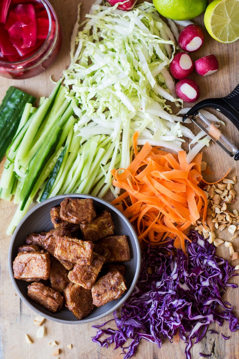 asian slaw peanut tofu ingredients
