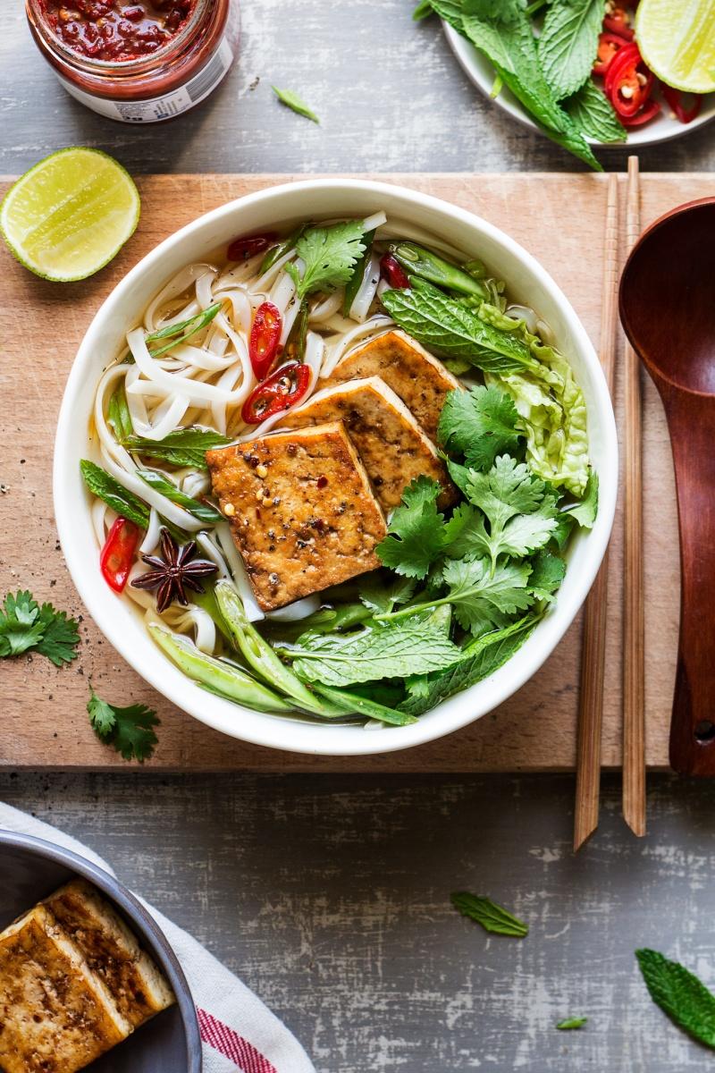 vegan pho tofu