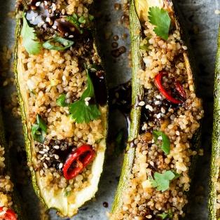 vegan zucchini boats macro