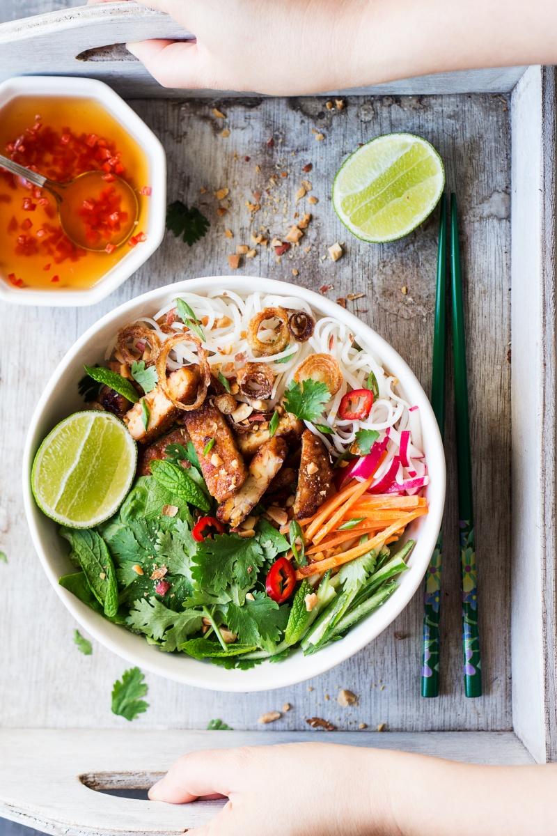 tempeh noodle salad tray