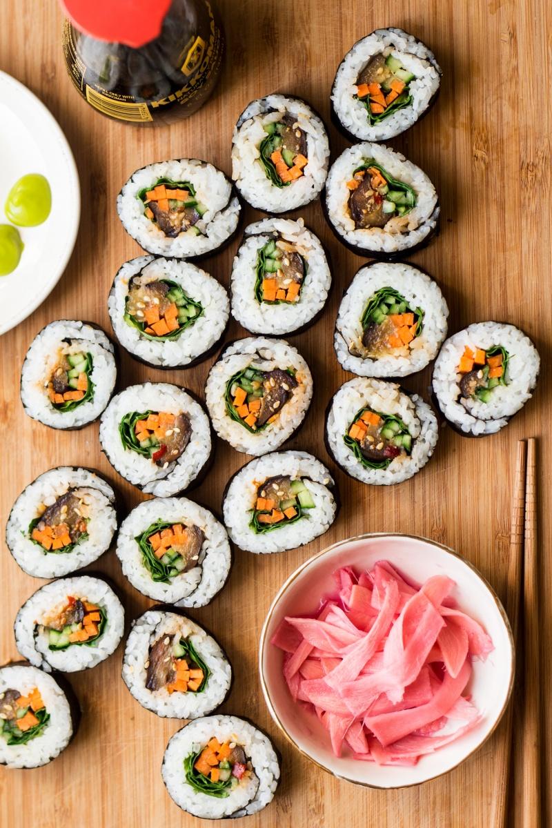 eggplant sushi spread