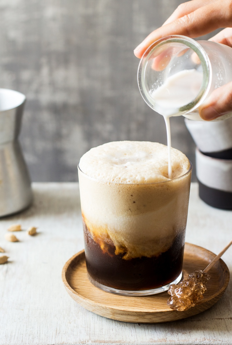 espresso cappuccino freddo almond milk