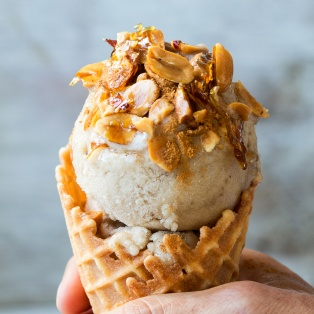 vegan banana ice cream square