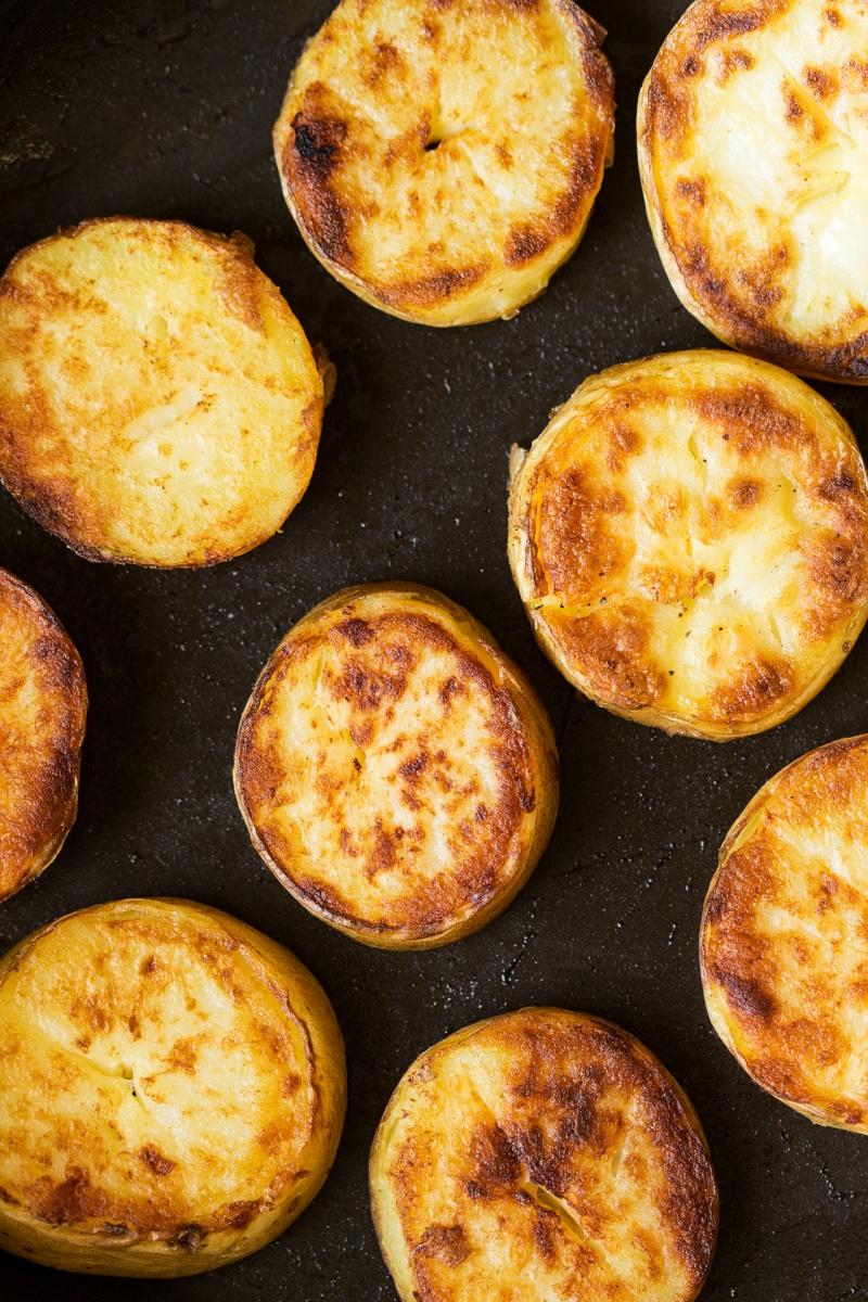 vegan nicoise salad refried potatoes