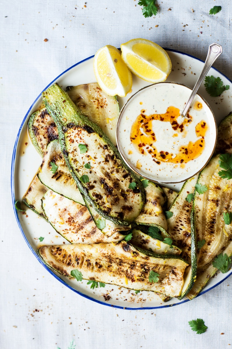 grilled spiced zucchini platter