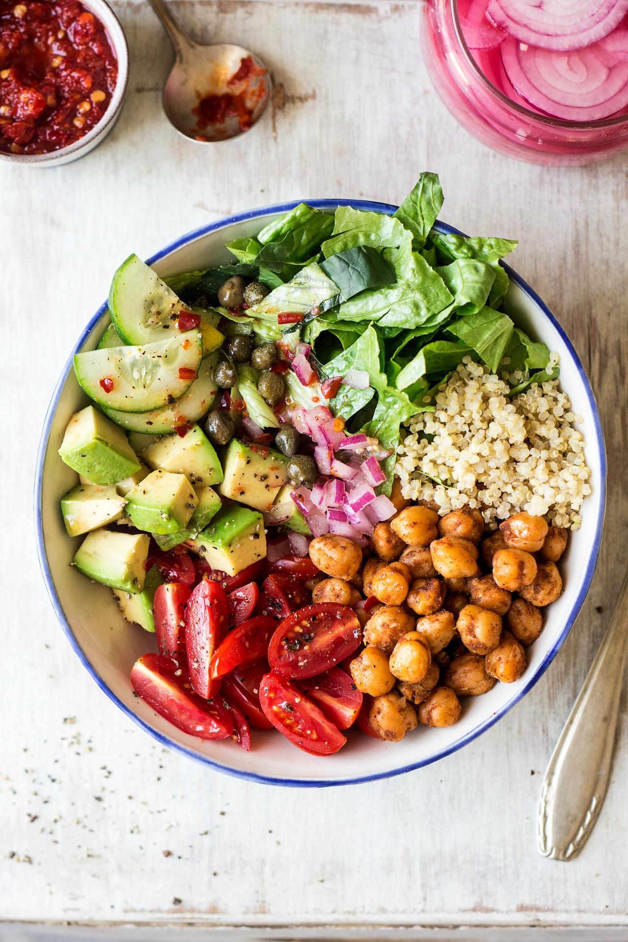 Vegan lunch bowl - Lazy Cat Kitchen