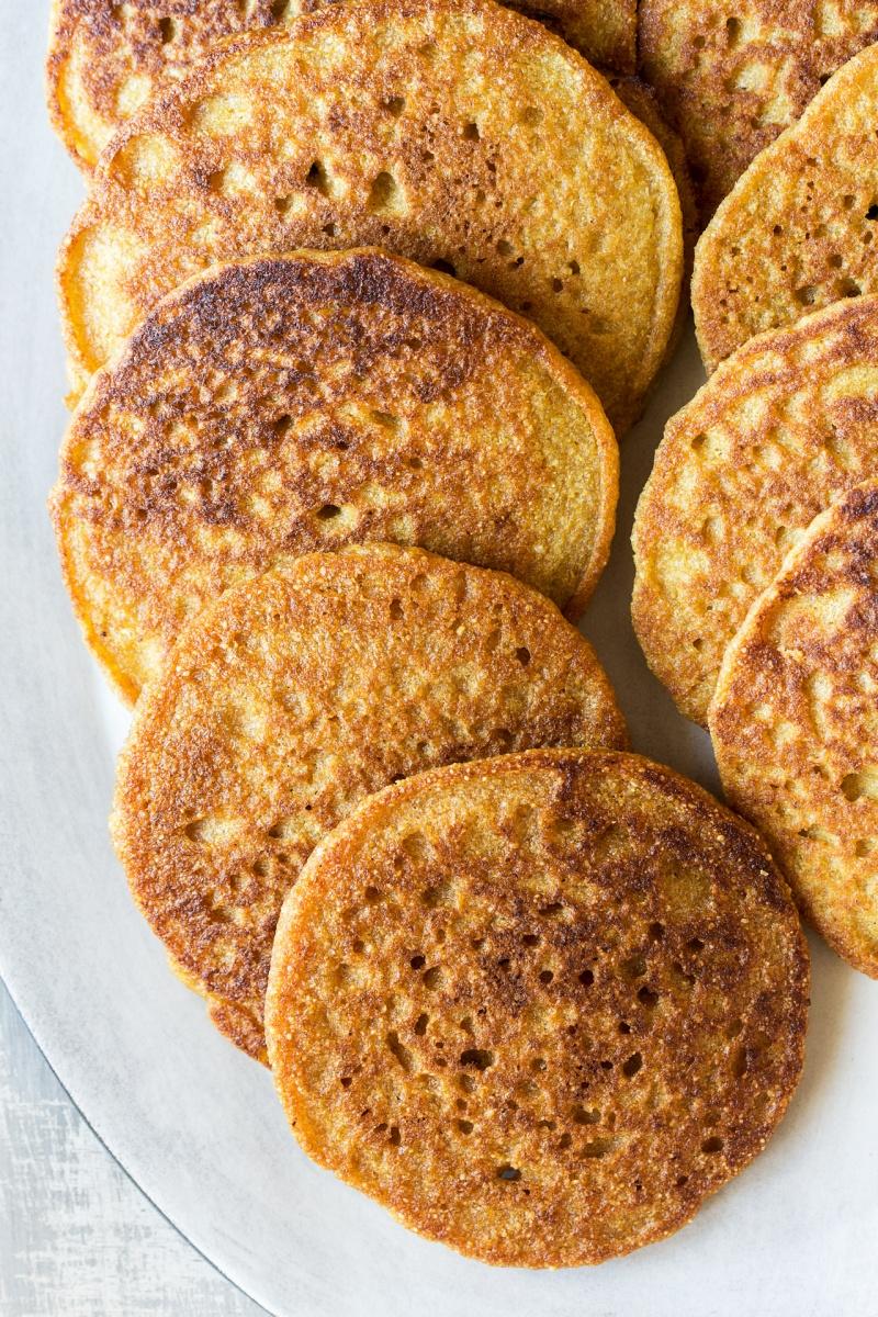 vegan quinoa pancakes plate