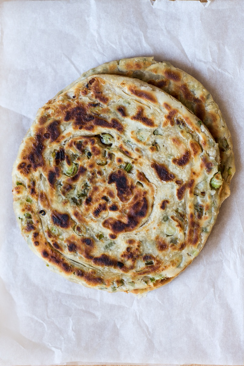 vegan scallion pancakes whole