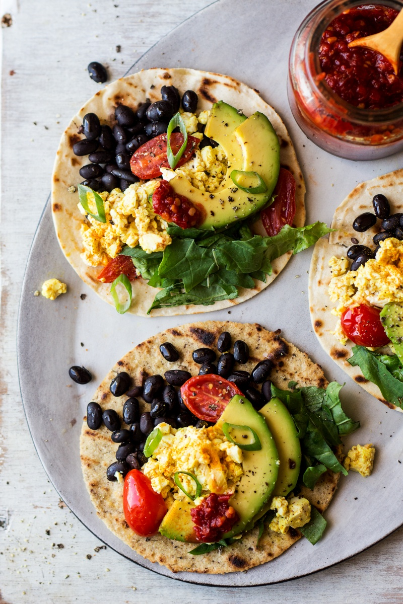 vegan breakfast tacos portion