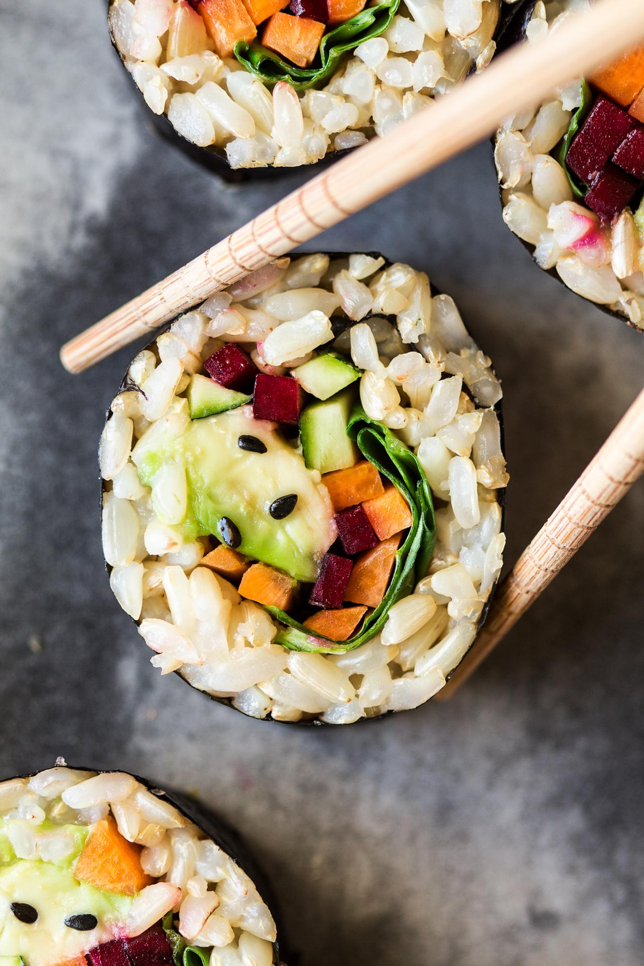 Vegan Brown Rice Sushi Lazy Cat Kitchen