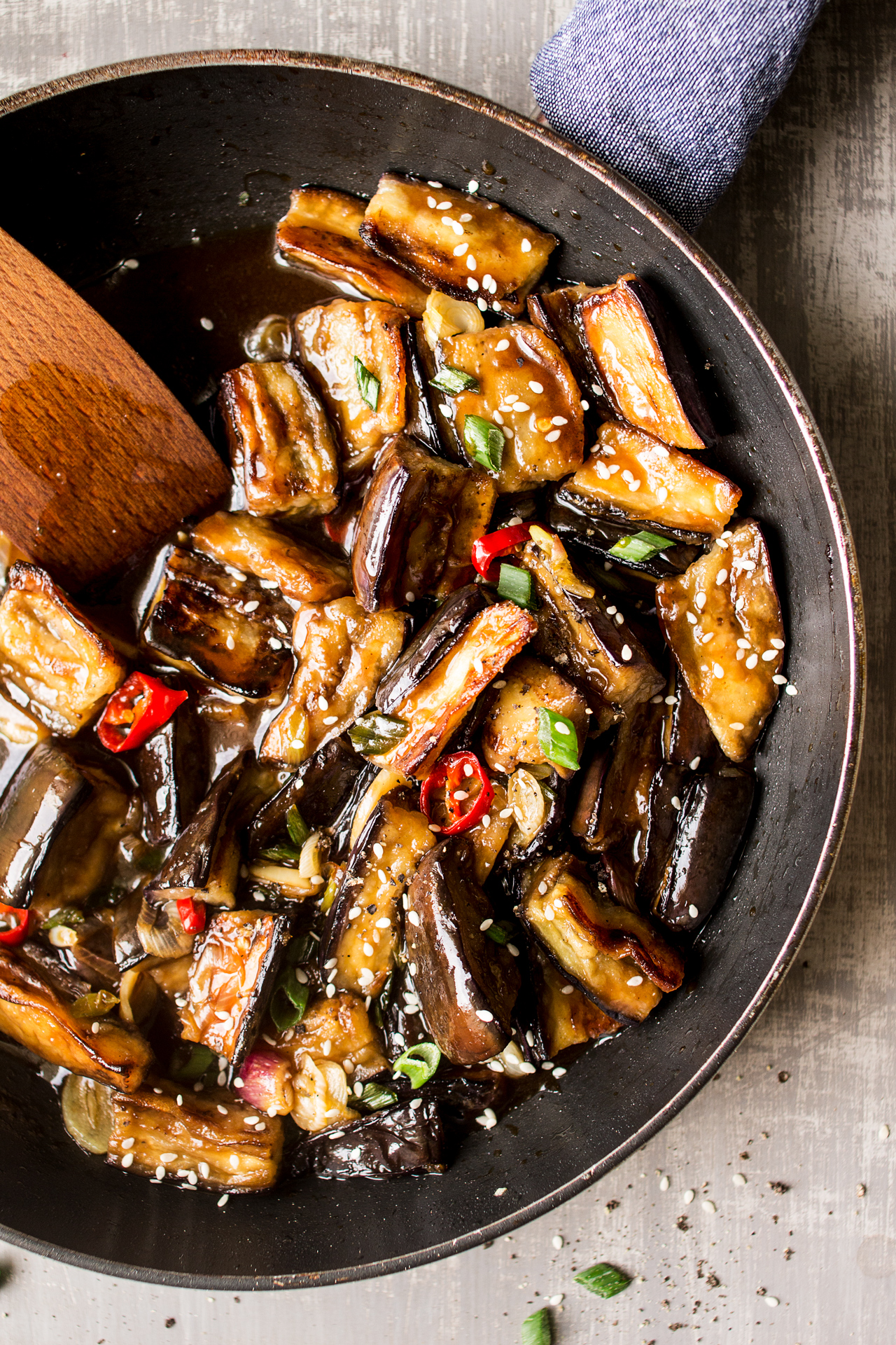 Vegan Chinese Aubergine Lazy Cat Kitchen