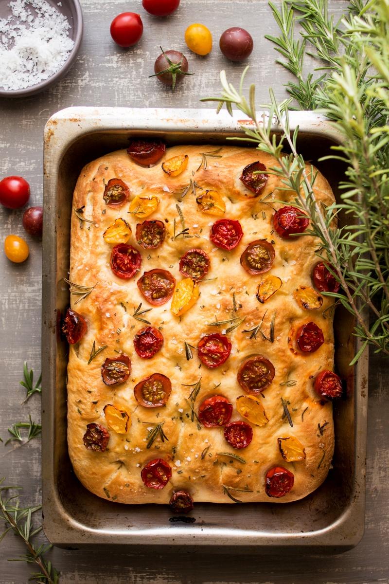 vegan focaccia baked