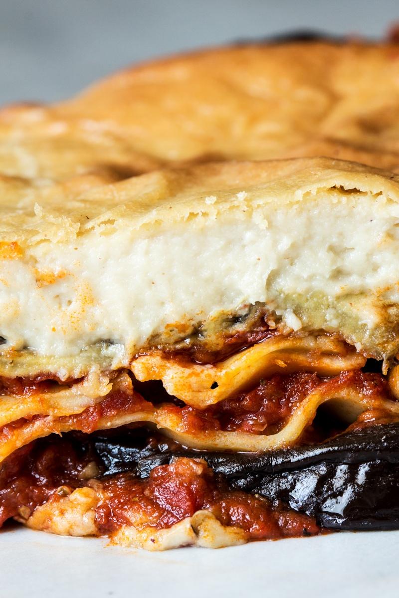 vegan lasagna cross section