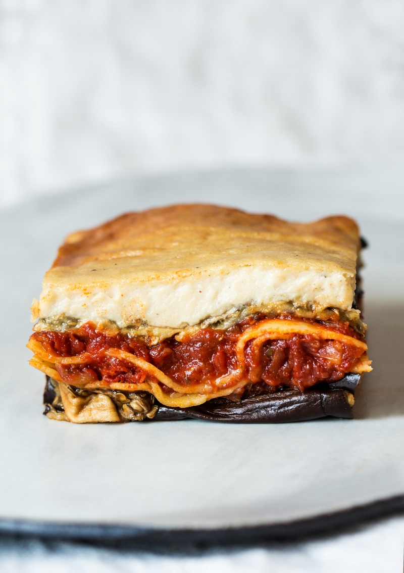vegan lasagna portion