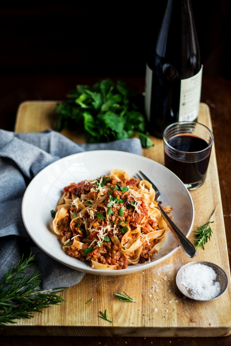 vegan bolognese portion