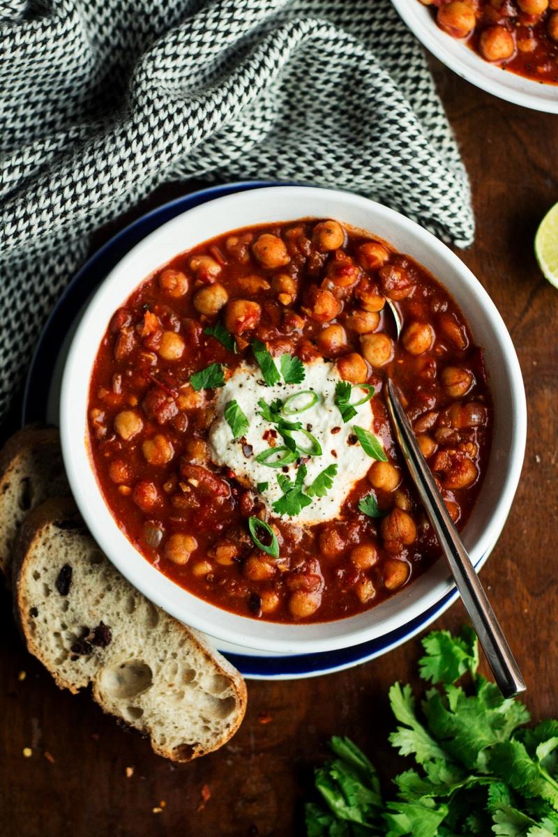 vegan chickpea stew lablabi portion