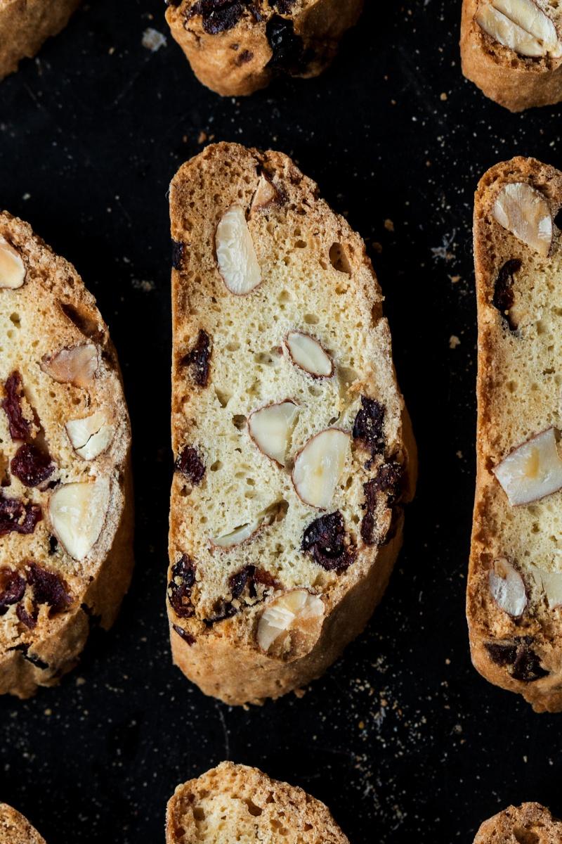 eggless biscotti tray macro