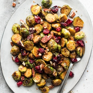 miso brussel roasted sprouts side