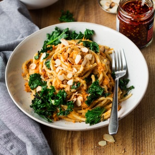 miso pumpkin pasta lunch