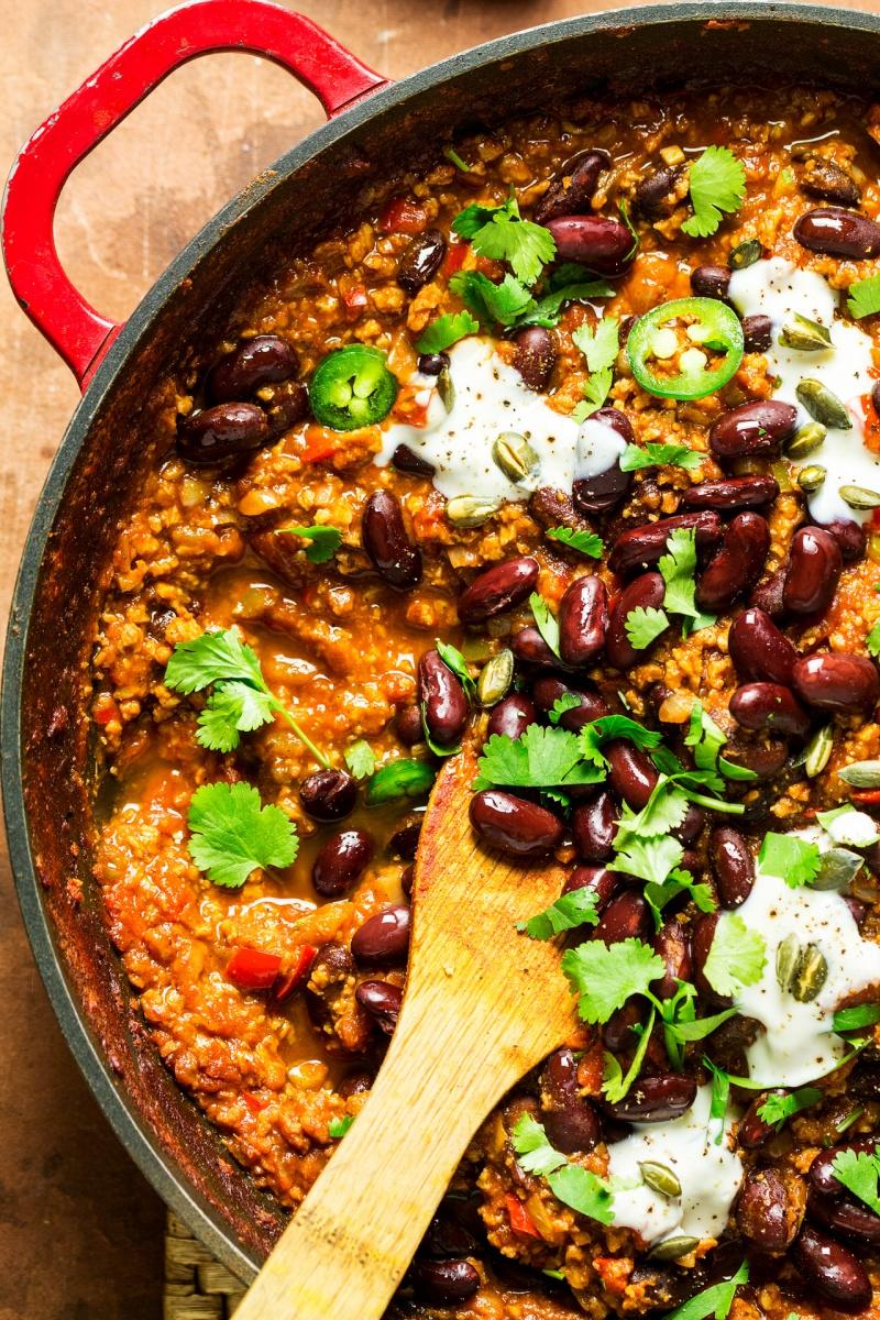 easy vegan chilli macro