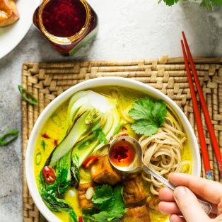 ginger turmeric broth chilli oil
