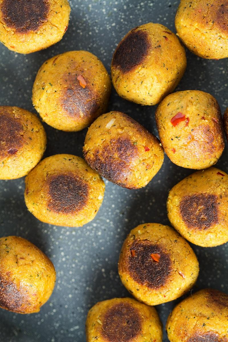 vegan asian meatballs