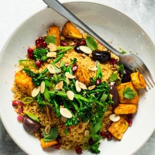 vegan couscous salad roasted parsnips lunch