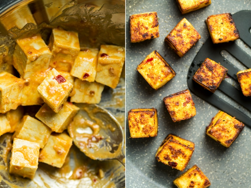 miso tofu before after