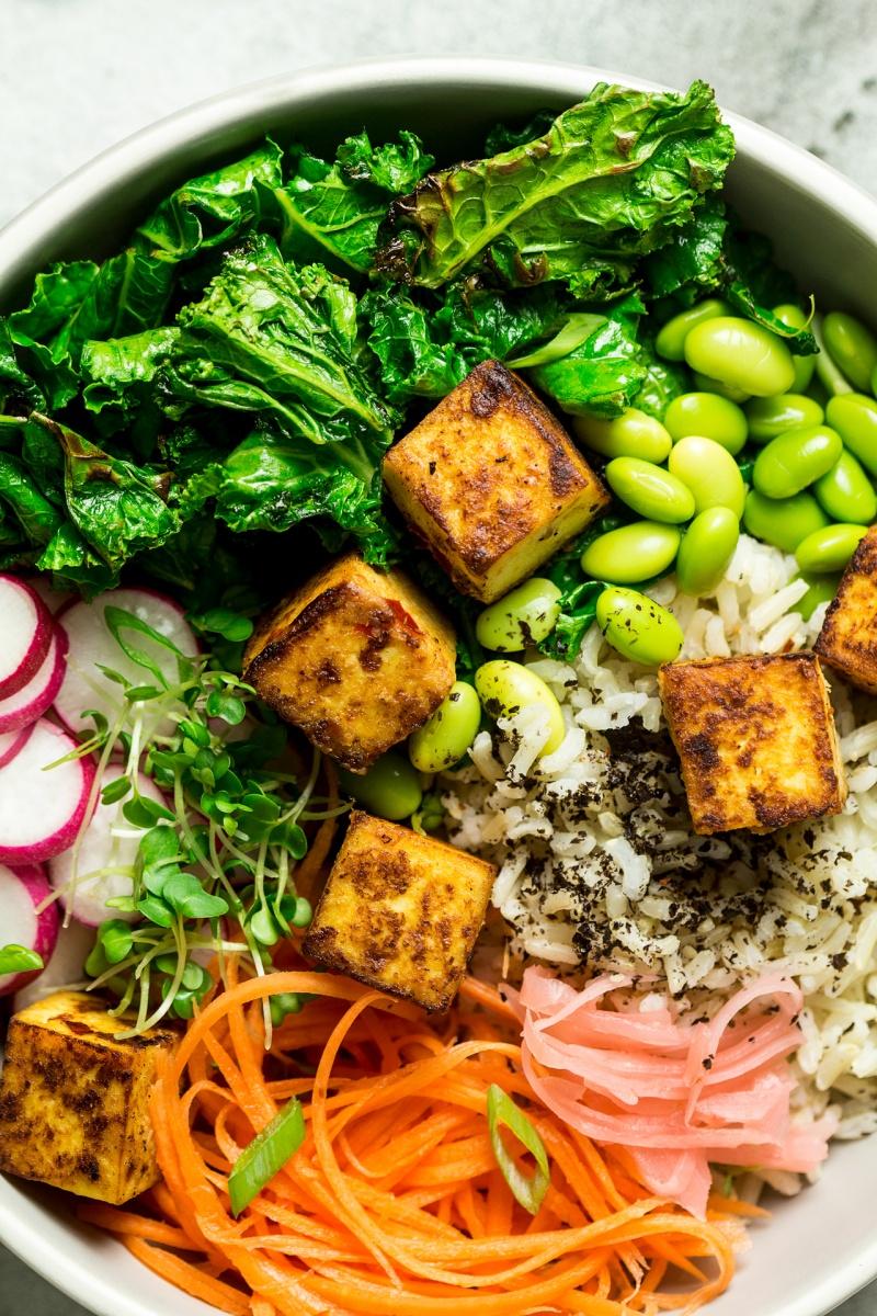 miso tofu bowl macro