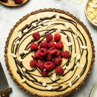 vegan peanut butter mousse jelly tart