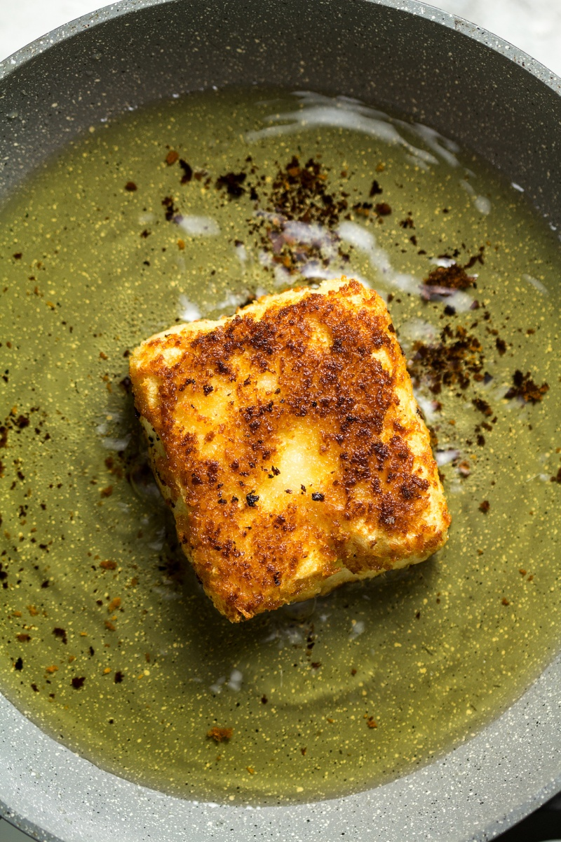 vegan katsu tofu frying