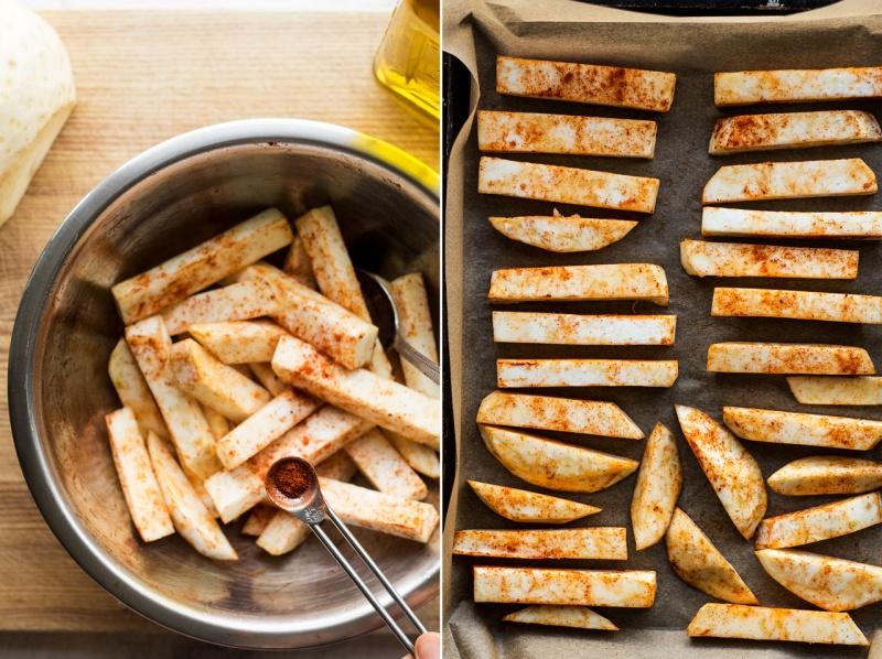 celeriac chips prep