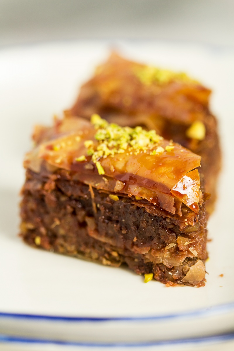 vegan date baklava pieces
