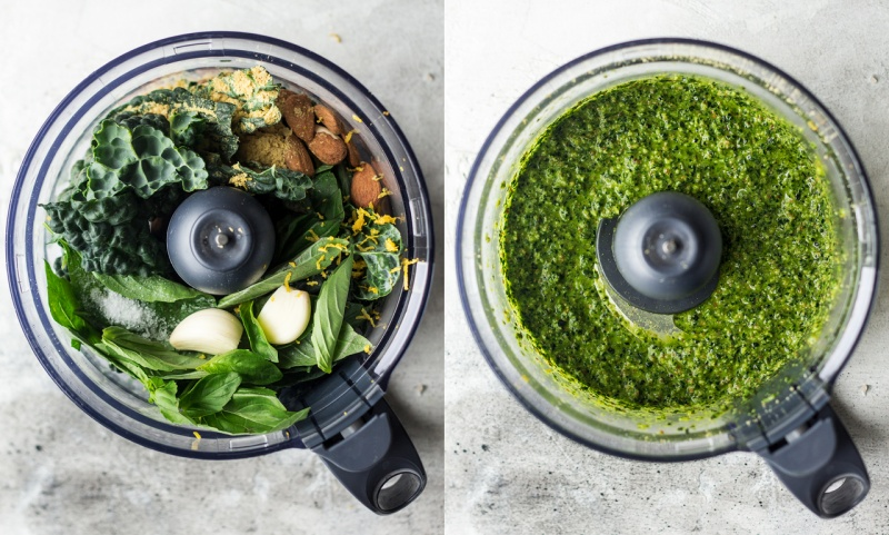 vegan pesto pasta food processor