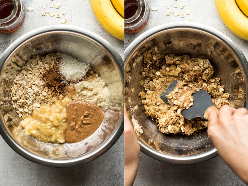 vegan breakfast cookies making