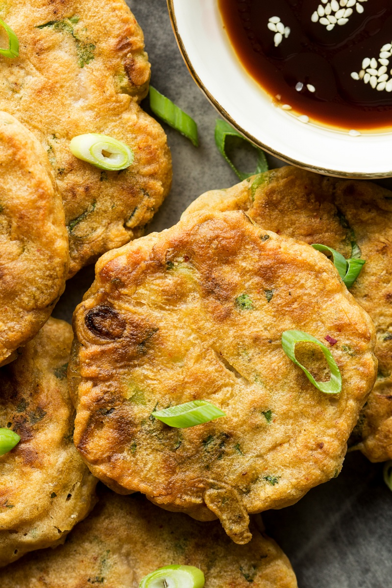 vegan kimchi pancakes batter