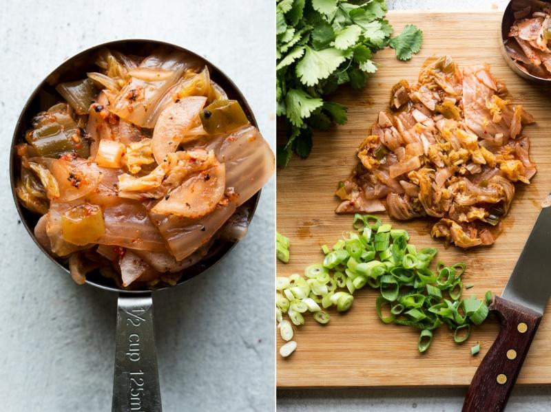 vegan kimchi pancakes ingredients