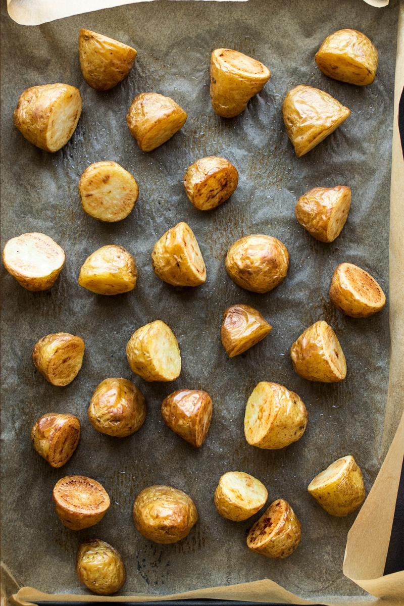 vegan potato salad pesto roasted potatoes