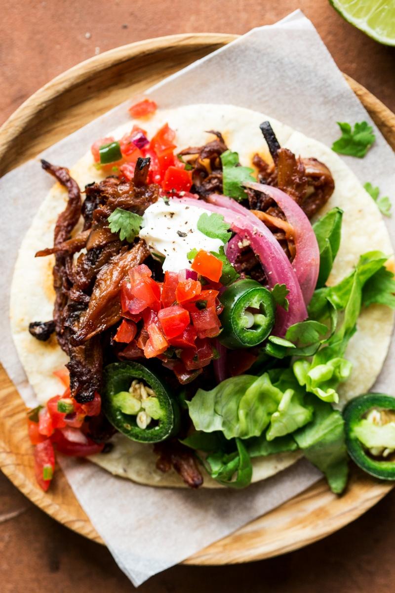 vegan pulled mushroom tacos macros