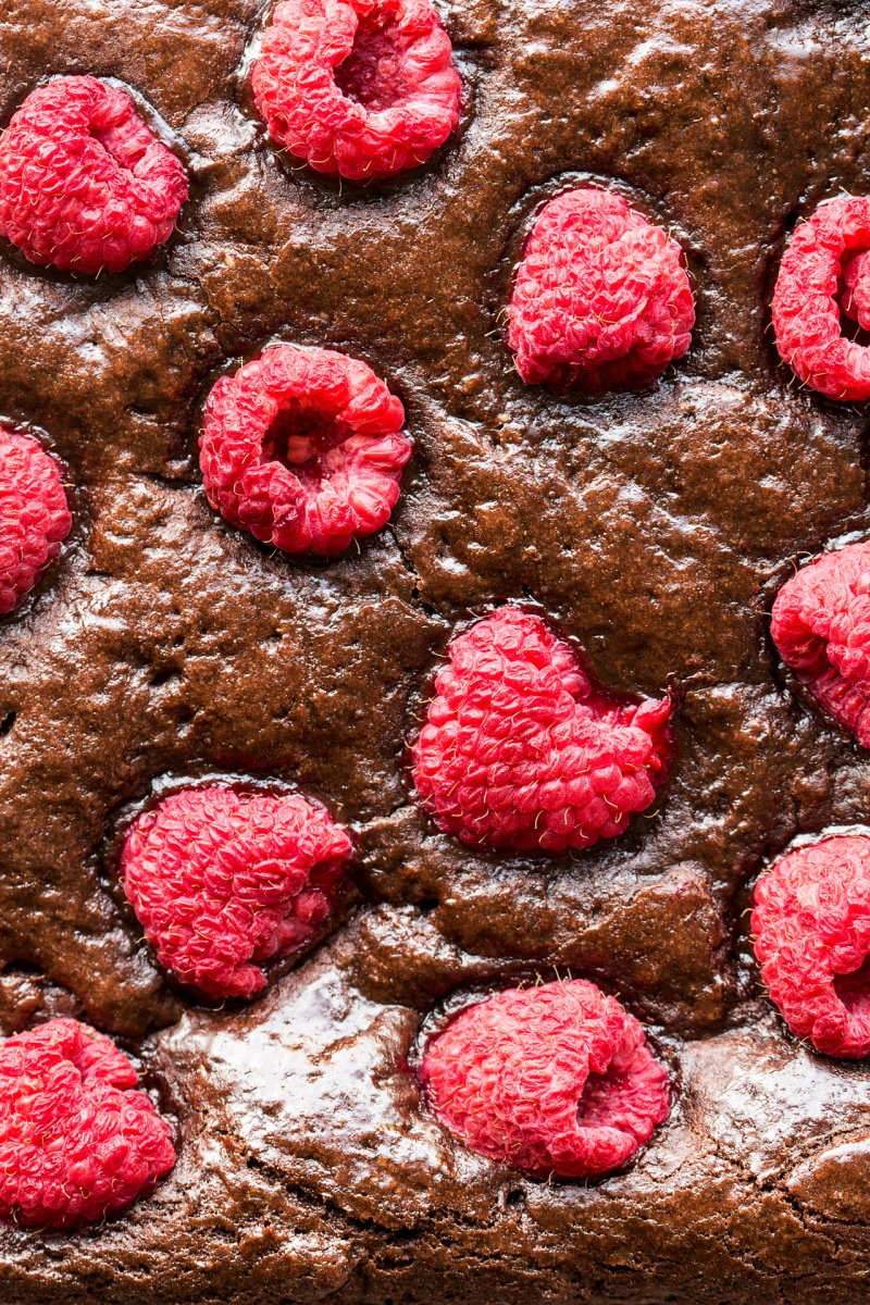 vegan raspberry brownies macro