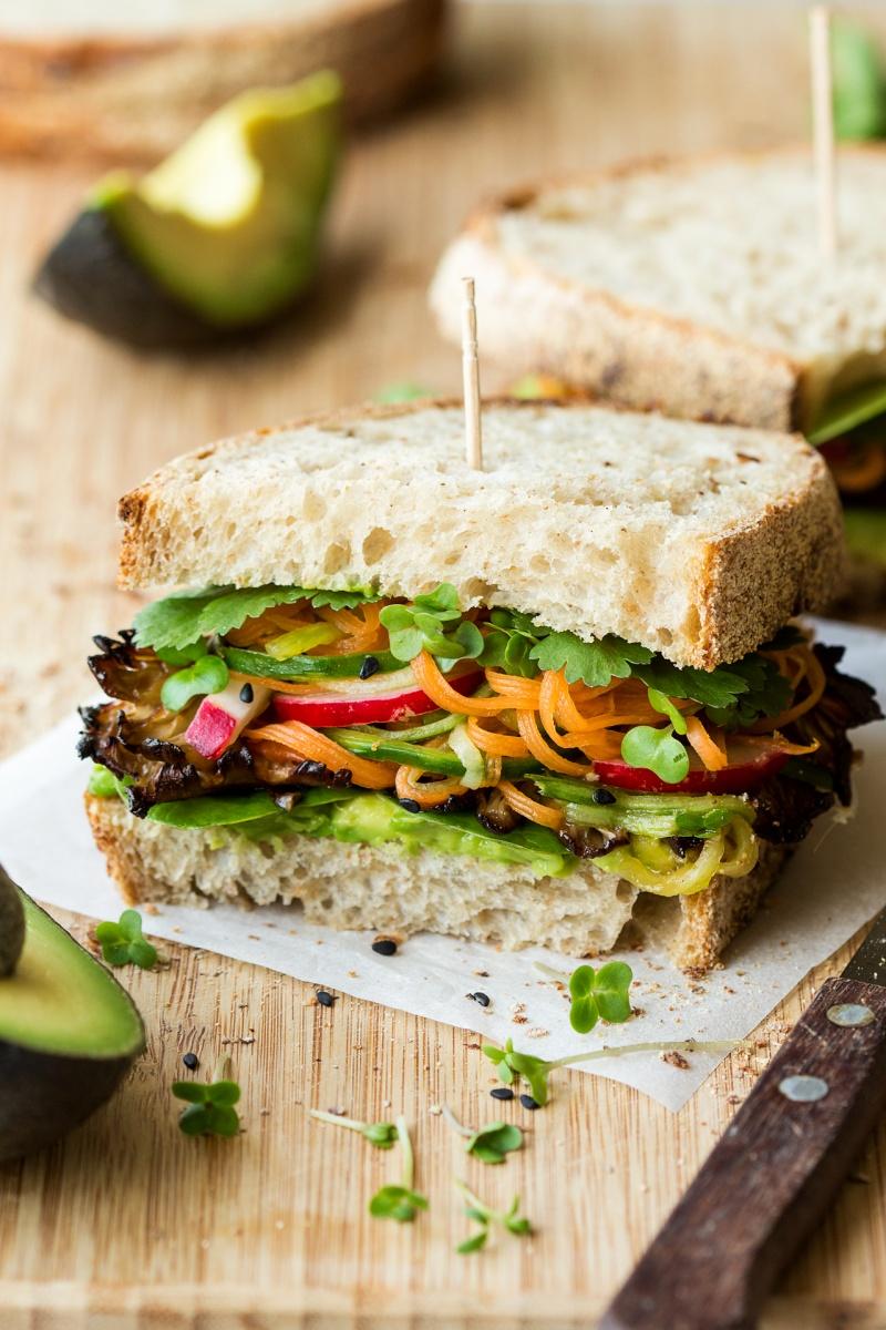asiann mushroom sandwich
