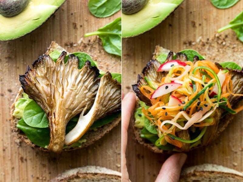 asian mushroom sandwich mushroom prep