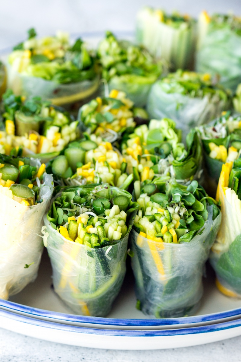 green summer rolls side