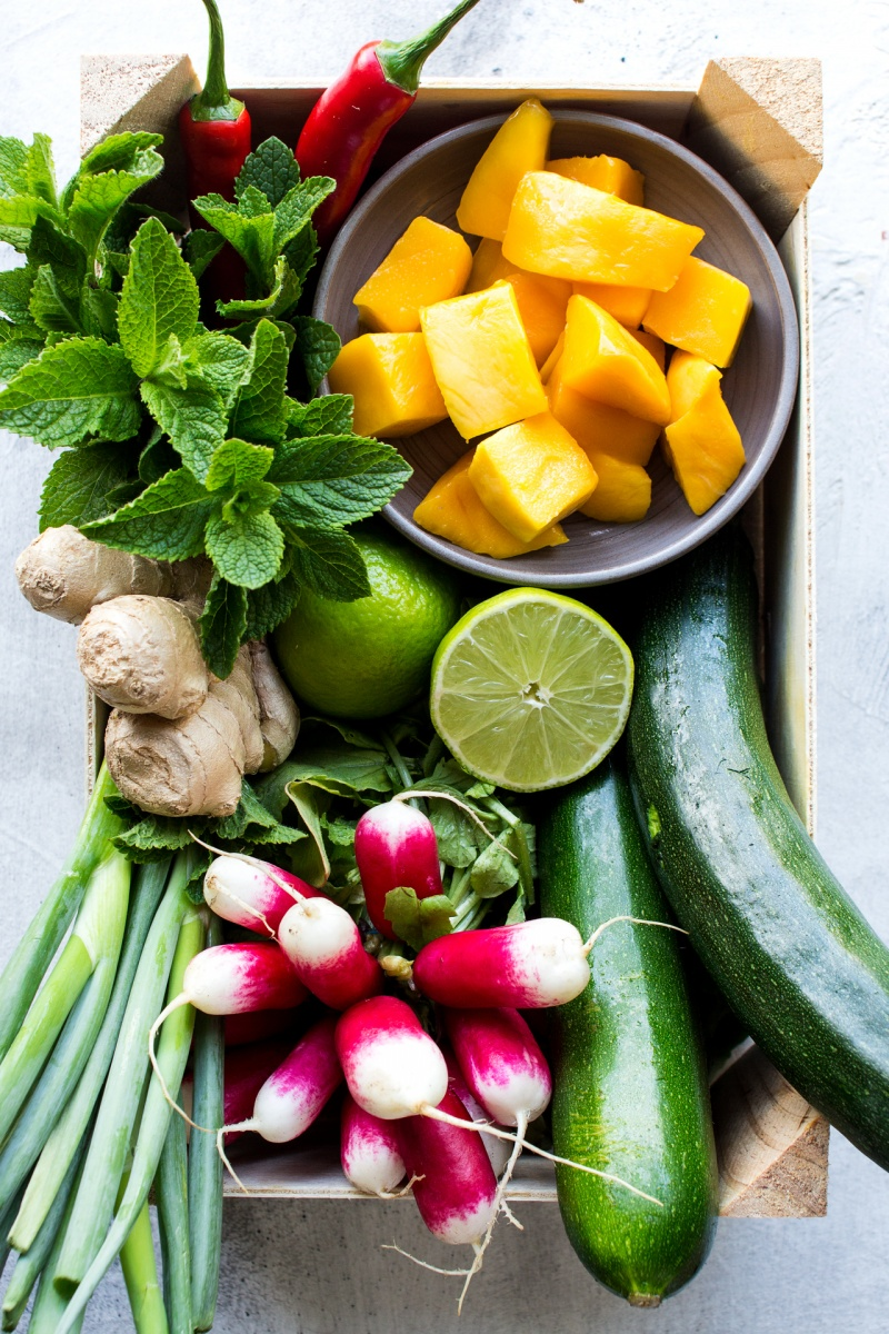 mango zucchini salad ingredients