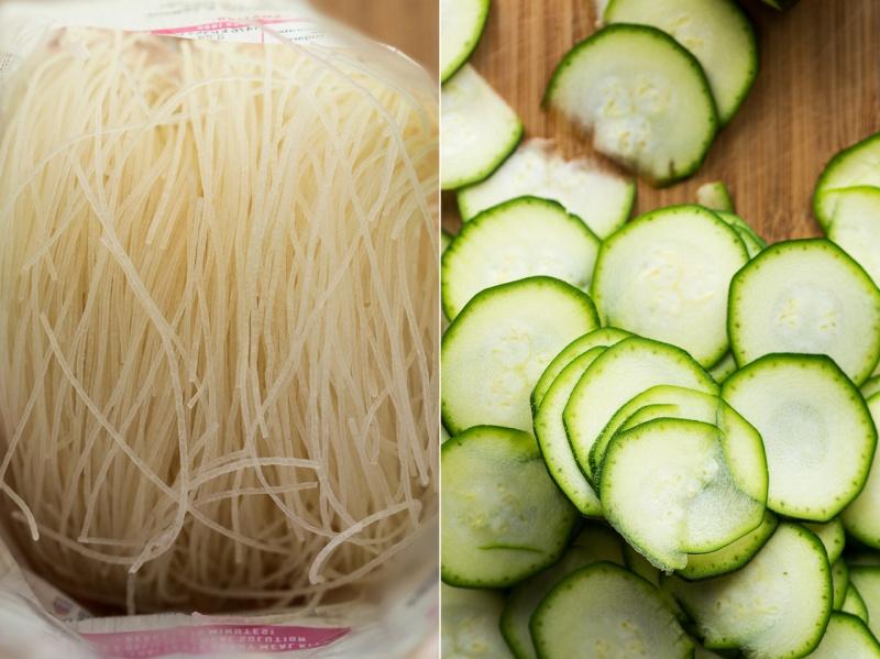 mango zucchini salad noodles sliced zucchini