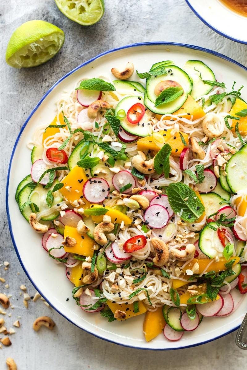 mango zucchini salad sesame