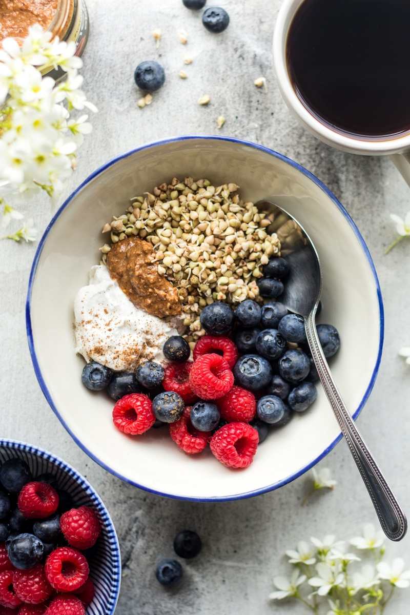 sprouted buckwheat bowl breakfast