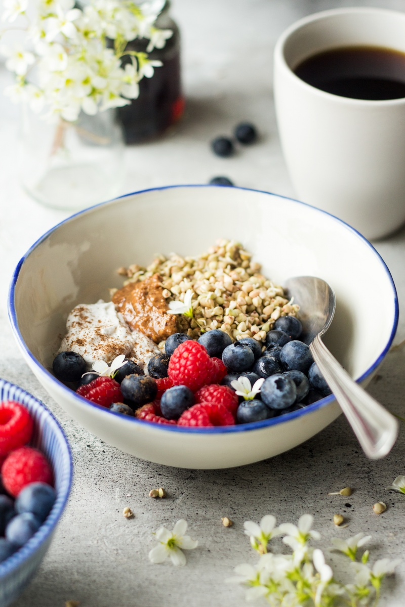 sprouted buckwheat breakfast bowl side