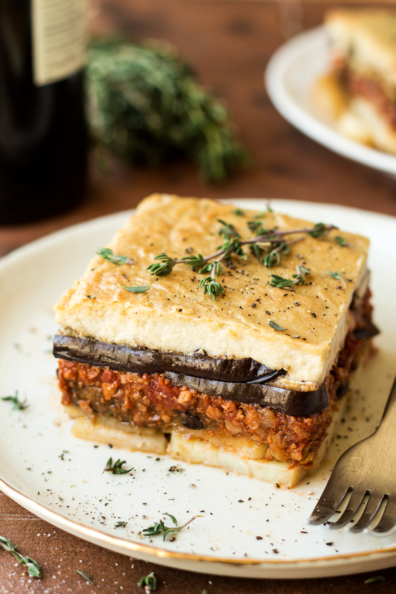 Vegan Moussaka With Creamy Bechamel Lazy Cat Kitchen